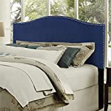 Dorel Living DL31205K-BL Winsted Linen King Headboard Nailheads, Navy