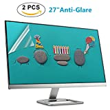 "(2 PACK) 27 Inch Anti Glare Screen Protector for 27"" Widescreen Monitor Display 16:9, Monitor Screen Protector Size 23.43in(W) 13.15in(H)"