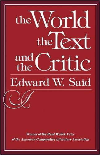 The World Text And Critic Amazonde Edward W Said Fremdsprachige Bucher
