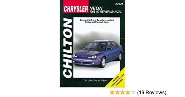 chrysler neon 1995 99 chilton total car care series manuals rh amazon com 2002 chrysler neon owners manual chrysler neon repair manual pdf