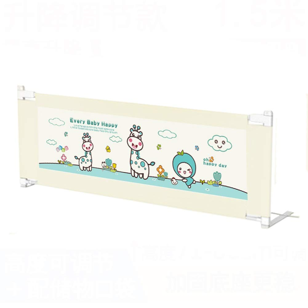 Extra Long Toddler Bed Rail Guard for Children, Portable Adjustable Baby Safety Bedrail Bumper with Lifting Design (Size : 1.8m) by Bed guardrail