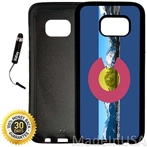Colorado Rockies Ipod Case - Custom Galaxy S7 EDGE Case (Colorado Flag Rocky Mountains) Edge-to-Edge Rubber Black Cover Ultra Slim   Lightweight by Innosub