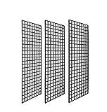 2' X 6' Gridwall Panels - 3 Pcs Box - Grid Wall Display Black