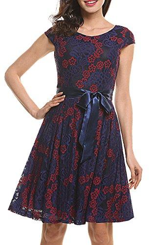 Buy belted cap sleeve dress - 3