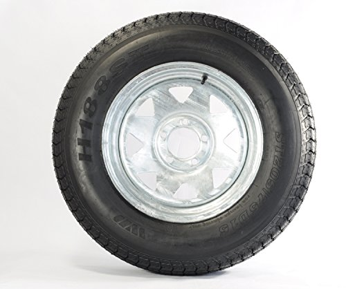eCustomRim Trailer Tire On Rim ST205/75D14 2057514 F78-14 5 Lug Wheel Spoke Galvanized