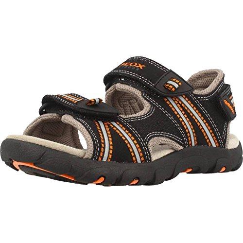 Zapatos grises Geox Strada infantiles rPrTDujp
