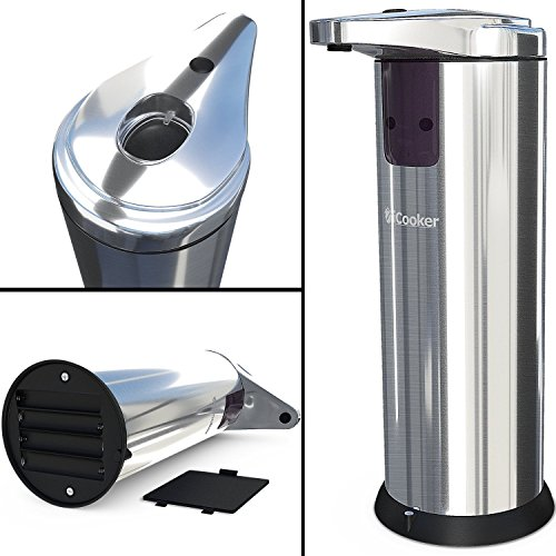 Amazon.com: Dispensador De Jabon Liquido Con Sensor Automatico - De Acero Inoxidable - Para Baño Y Cocina - Electrico: Home & Kitchen
