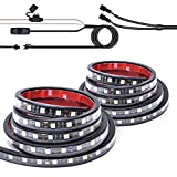 """MICTUNING 2Pcs 60"""" White LED Cargo Truck Bed Light Strip Lamp Waterproof Lighting Kit with On-Off Switch Fuse 2-Way Splitter Cable for Jeep Pickup RV SUV and More"""