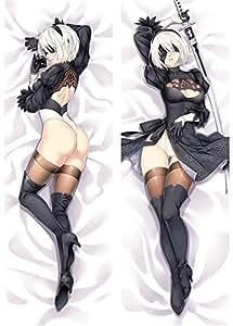 You Loving Nia Otomata pillow cover hot ARPG game Nier: Automata character yorha no.2 type b 2B & YoRHa No. 9 Type S body Pillowcase (50x150cm peach skin, 6)