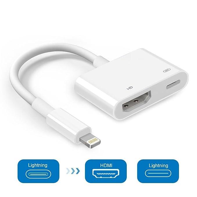 5 opinioni per Yehua Lightning a HDMI, 1080p video HDMI Cavo AV connettore convertitore schermo