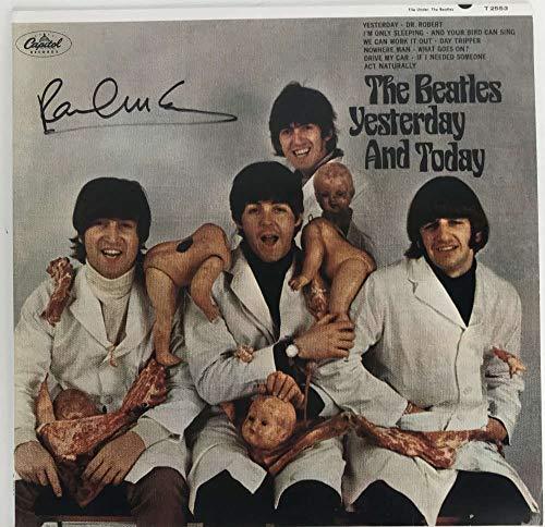 The Beatles Paul McCartney Signed Autographed Butcher Cover Album Beckett BAS