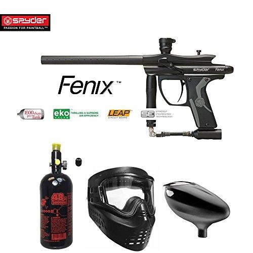 Paintball Guns Spyder Electronic (Kingman Spyder Fenix Beginner HPA Paintball Gun Package - Black)
