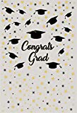 AOFOTO 5x7ft Graduation Backdrop Congrats Grad Cap Party Decor Photography Background Abstract Stars Celebration Photo Studio Props College School Ceremony Commencement Student Education Photobooth