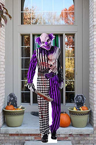 aahs!! Engraving Halloween Haunted House Life Size Cardboard Stand Up (Slasher Clown with Knife)