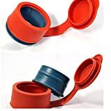 TOAO Bag Clips Food Storage Multifunctional Silicone Sealing Cap Magic Bag Cap Keep Food ,Meat,Pet food, Snack Fresh,3pcs Set -1Small 1Med 1Large