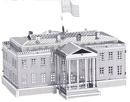 Tiny 3D Laser Cut Metal Kits Famous Buildings of the World The White House Model Nano Puzzle