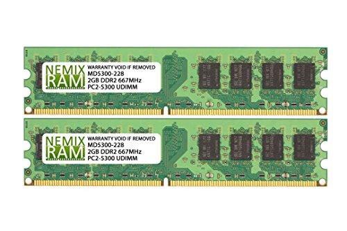4GB (2 X 2GB) DDR2 667MHz PC2-5300 240-pin Memory RAM DIMM for Desktop PC