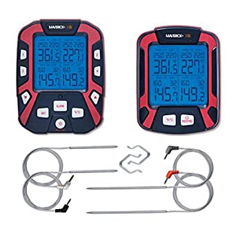 Maverick XR-50 Extended Range Digital Remote Wireless 4 Probe BBQ & Meat Thermometer from SnS Grills