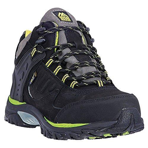 Mcrae Industriel Hommes Mi-hauteur Chaussures De Travail En Acier - Mr84700 Noir 2