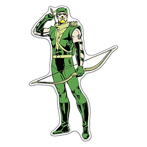 Fan Emblems Green Arrow Character Car Decal Domed/Multicolor/Clear, DC Comics Automotive Emblem Sticker Applies Easily to Cars, Trucks, Motorcycles, Laptops, Windows, Almost Anything