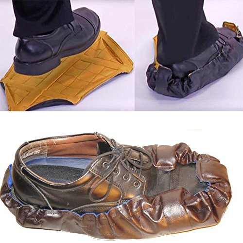 Fheaven Volwassen Hoes Snelle Automatische Schoenovertrek | 1 Paar Premium Schoenen Voor Laarzen En Schoenen | Duurzaam, Waterdicht, Recyclebaar Blauw
