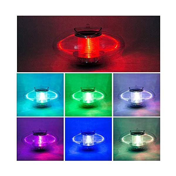 Linkax - Luce da piscina galleggiante per laghetto, luce solare da giardino, colorata, impermeabile, PC, luci solari per… 2 spesavip