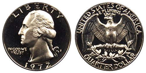 1972 S Washington Quarter Proof GEM BU++ Washington Proof Quarter Cameo