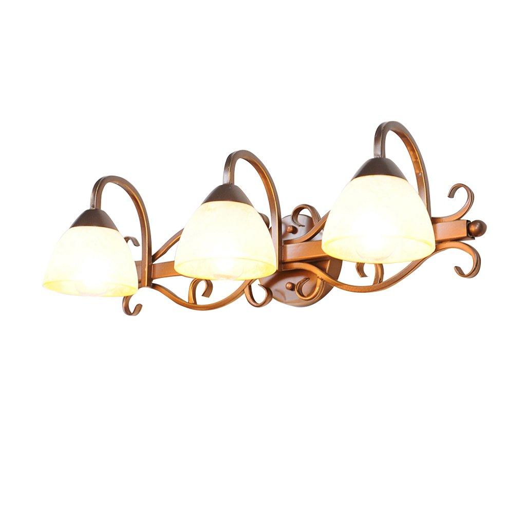 LANNA SHOP- Simple Mirror Front LED Warm Light Dresser Make-up Lighting Lamp Bathroom Wall Mirror Headlights ( Size : 3 lights )