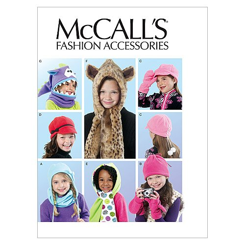 McCall Patterns M6448 Children's/Girls' Hats, Cowl and Mittens McCall Pattern Company M6448OSZ