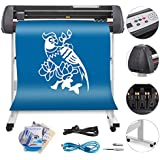 VEVOR Vinyl Cutter 34 Inch Plotter Machine Signmaster Software Sign Making Machine 870mm Paper Feed Vinyl Cutter Plotter with Stand (34Inch)