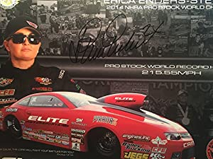ERICA ENDERS -Stevens Signed Autographed NHRA PRO STOCK CAR Hero Card - Autographed NASCAR Cards by Sports Memorabilia