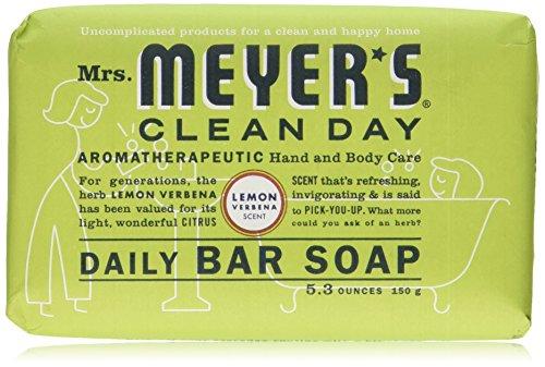 Mrs. Meyer's Clean Day Daily Bar Soap, Lemon Verbena, 5.3 (Lemon Verbena Bar)