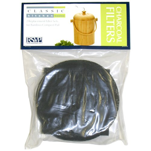 Endurance RSVP Compost Pail Filters – 2 Sets for BAMBOO pa