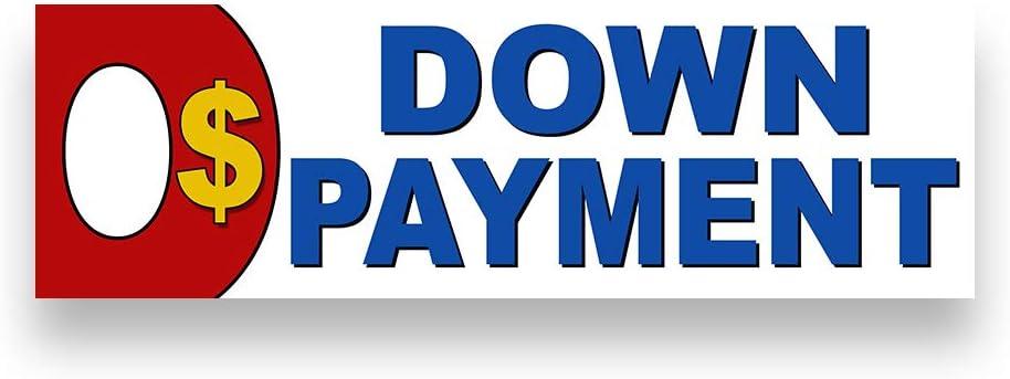 0 Money Down Vinyl Banner 8 Feet Wide by 2.5 Feet Tall