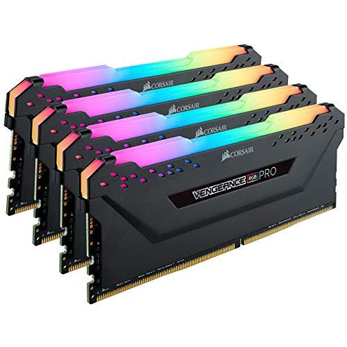 CORSAIR Vengeance RGB PRO 32GB (4x8GB) DDR4 3200 (PC4-25600) C16 Desktop Memory – Black