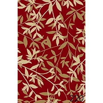 Amazon Com New Bamboo Red Floral Design Rubber Backed