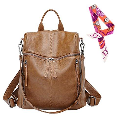 Leather Backpack Handbags - 1