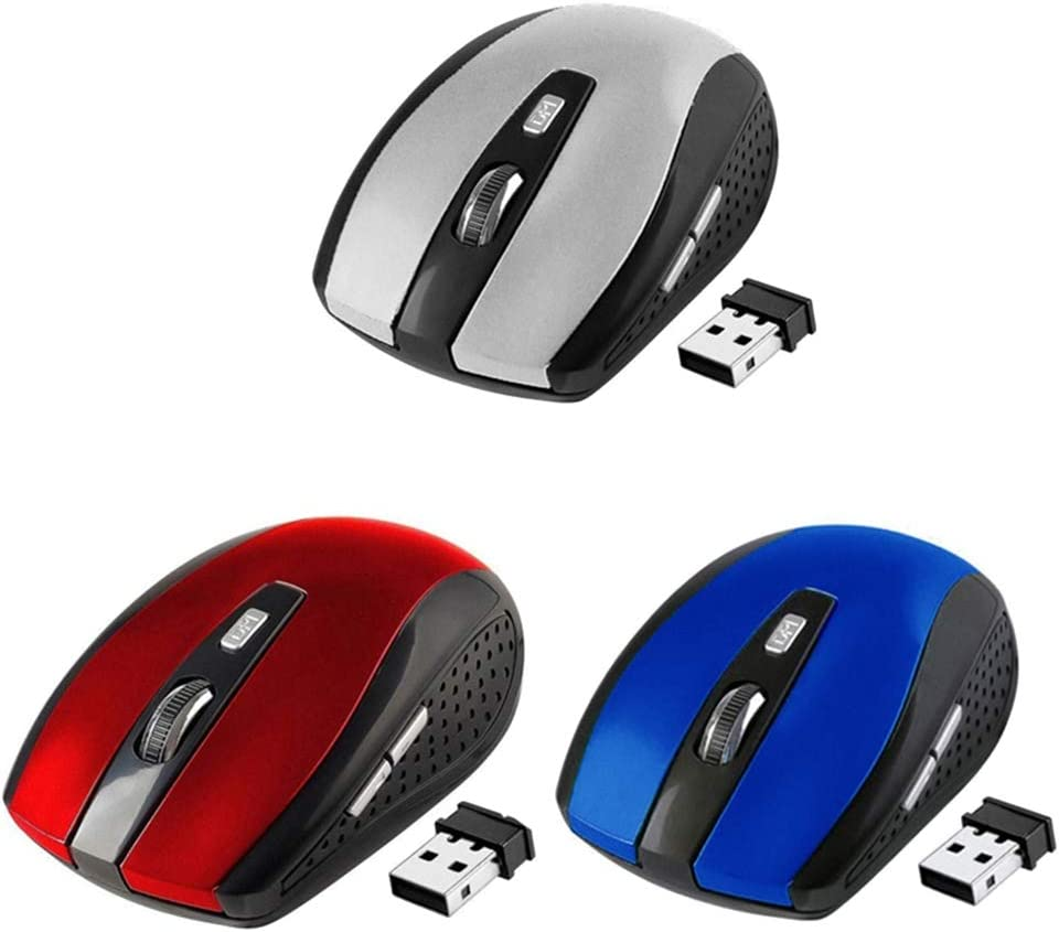 2.4 GHz Wireless Mouse Slim Optical Gaming Mice with USB Receiver for PC #1