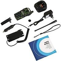 Auntwhale Two-Way Radio Interphone Premium VHF Dual Display 128CH UV-82 Handheld for Tri-Power Camo