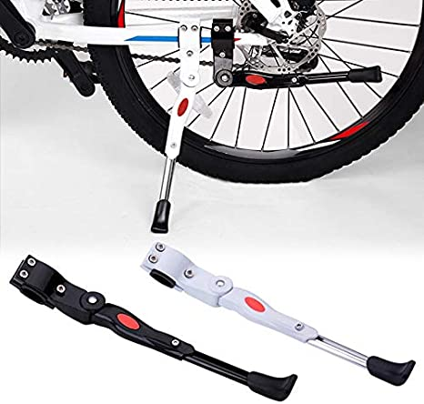 Aluminum Bike Bicycle Foot Brace Parking Leg Rod Kickstand Length Adjustable 1A