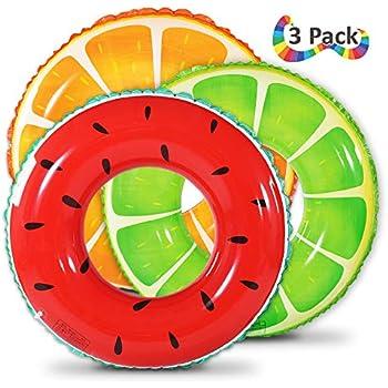 Amazon Com Fruit Pool Float Watermelon Orange Lemon Swim Tube Ring Inflatable Swim Pool Party