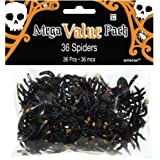Amscan Halloween Plastic Spider Favors, Multicolor