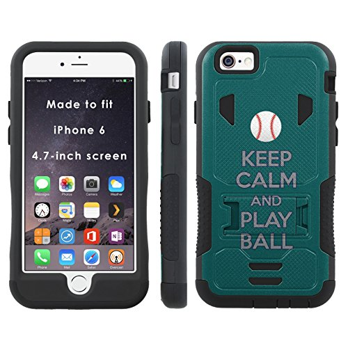 Keep Calm and Play Ball - Seattle - Mobiflare iPhone 6 iPhone 6S (4.7 inch Screen) Flak Jacket Dual Armor with (Mariners Flak Jacket)