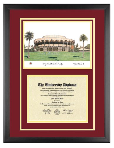 com arizona state diploma frame artwork in classic  arizona state diploma frame artwork in classic black frame