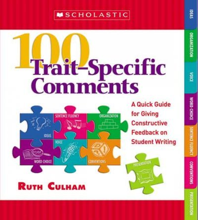Download 100 Trait-Specific Comments: A Quick Guide for Giving Constructive Feedback on Student Writing pdf