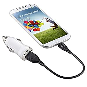 Weksi USB Car Charger for PDA ,cell phone,MP3,MP4 Portable Car Battery Charger - White