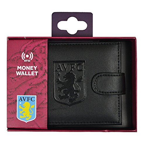 Leather Villa Embossed RFID Aston Villa FC FC Wallet Aston gTfqPw0xS