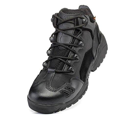 GLSHI Hombres Botas tácticas al aire libre al aire libre Botas tácticas alpinistas Botas tácticas de tacón alto Botas tácticas de camuflaje black low gang