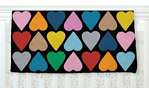 KESS InHouse Project M Up and Down Hearts on Black Fleece Baby Blanket 40 x 30 [並行輸入品]   B0785PHPVD