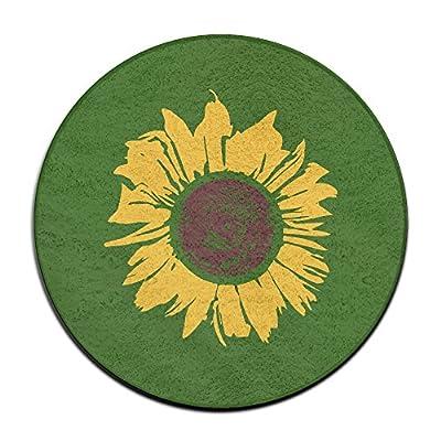 Kansas Sunflower Logo Design Vintage Cool Home Welcome Doormat